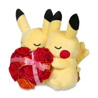 Image for Paired Pikachu Celebrations: Sweetheart Pikachu Plush - 8 In. from Pokemon Center