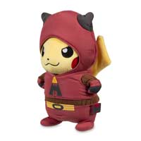 Pikachu in Team Magma Costume Poké Plush (Standard Size) - 8 In.