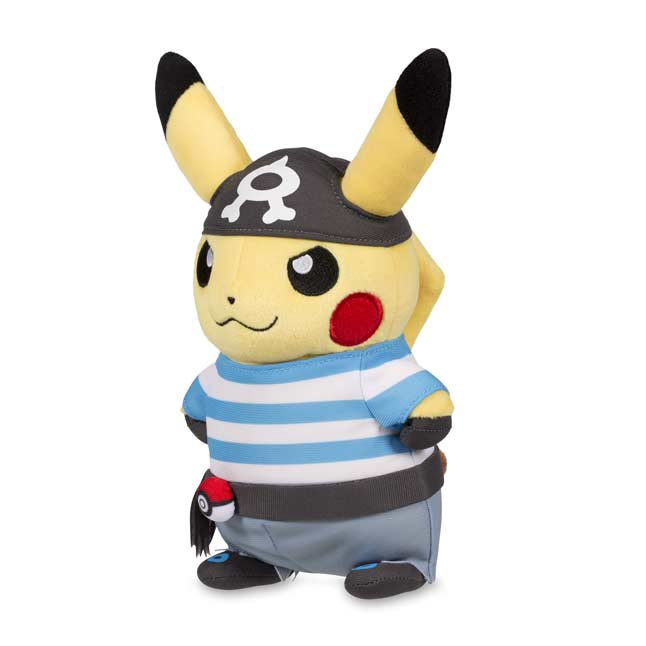 "Image for Pikachu in Team Aqua Costume Poké Plush (Standard SIze) - 8 1/4"" from Pokemon Center"