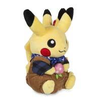 Image for Paired Pikachu Celebrations: Berry Farmer Pikachu Plush - 6 1/2 In. from Pokemon Center