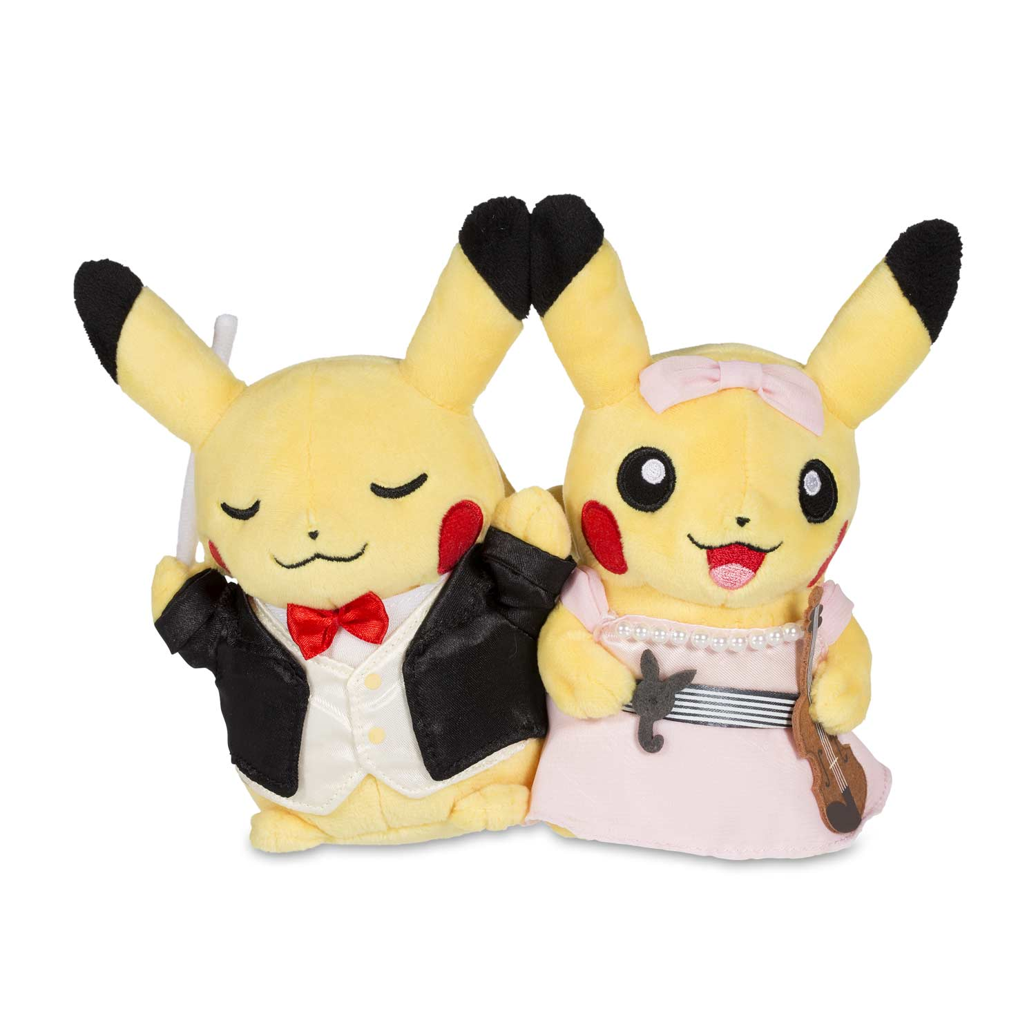 6e6b321d Image for Paired Pikachu Celebrations: Symphony Pikachu Plush - 8 In. from Pokemon  Center