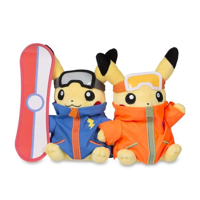 "Image for Paired Pikachu Celebrations: Snowboarder Pikachu Plush - 9.5"" from Pokemon Center"