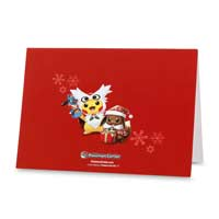 Image for Pikachu and Eevee Holiday Greeting Cards (12 Cards, Envelopes, and Seals) from Pokemon Center
