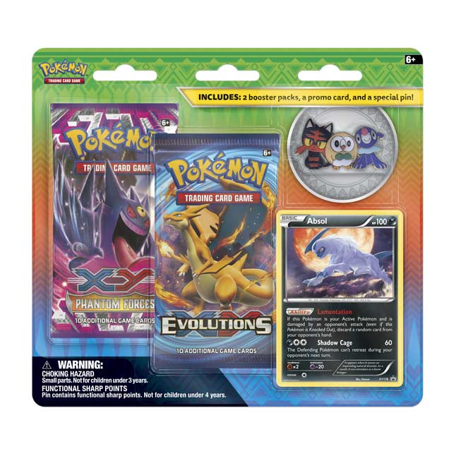 Image for Pokémon TCG: Collector's Pin 2-Pack Blister (Rowlet, Litten, and Popplio) from Pokemon Center