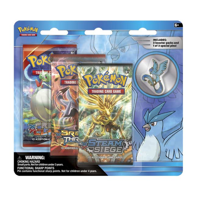 Image for Pokémon TCG: Legendary Birds 3 Boosters with Articuno Collector's Pin from Pokemon Center