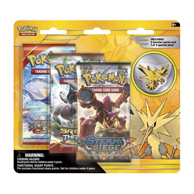 Image for Pokémon TCG: Legendary Birds 3 Boosters with Zapdos Collector's Pin from Pokemon Center