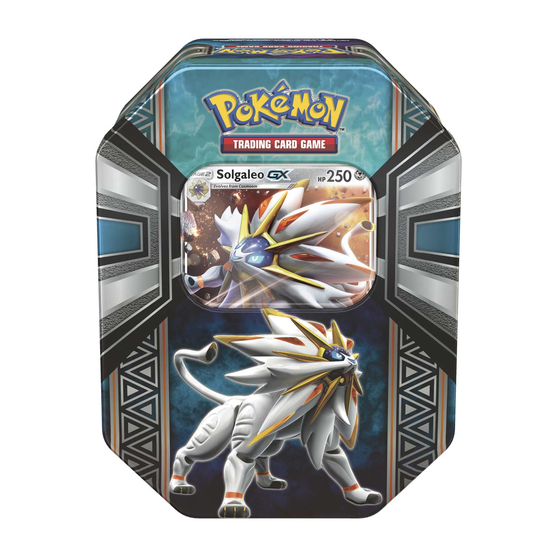 Pokemon Tcg Legends Of Alola Tin Solgaleo Gx Trading Cards