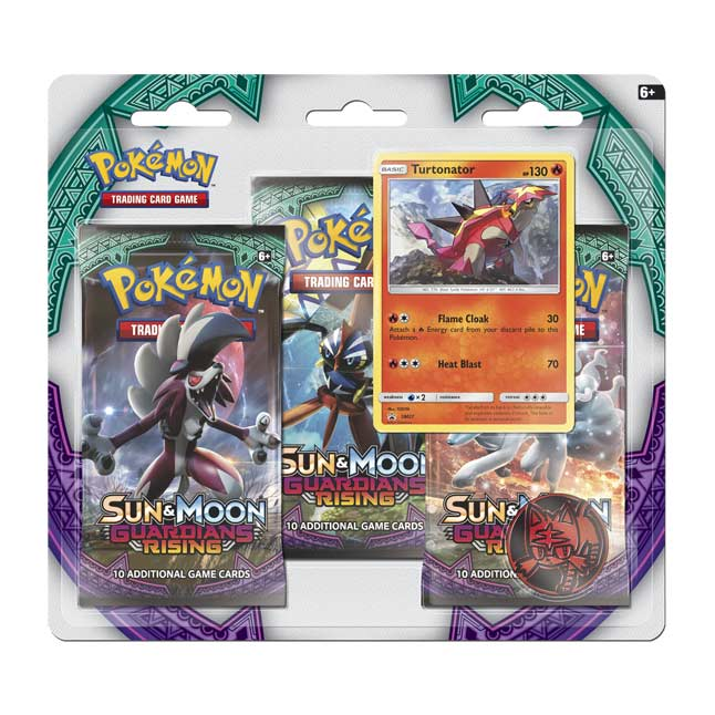 Image for Pokémon TCG: Sun & Moon—Guardians Rising Boosters (3 Booster Packs with Turtonator Promo Card) from Pokemon Center