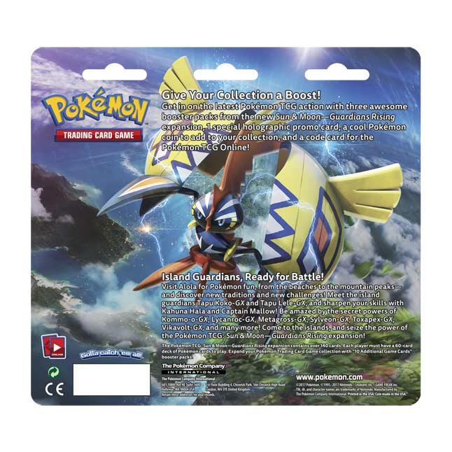 Blister Pack 10 TGC Sun /& Moon 2 Guardians Rising 1 Booster POKEMON