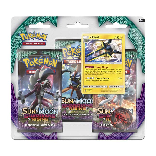 Image for Pokémon TCG: Sun & Moon—Guardians Rising Boosters (3 Booster Packs with Vikavolt Promo Card) from Pokemon Center