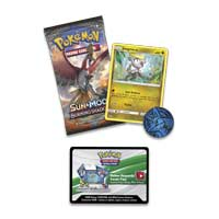 Image for Pokémon TCG: Sun & Moon-Burning Shadows Booster Pack, Coin & Jangmo-o Promo Card from Pokémon Center