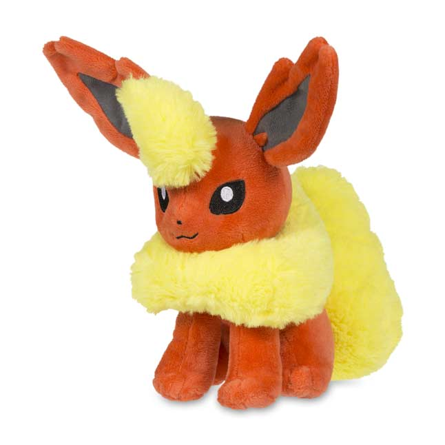 "Image for Sitting Flareon Poké Plush (Standard Size) - 6"" from Pokemon Center"