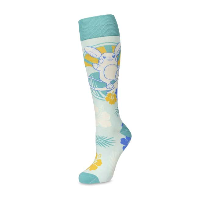 Image for Alolan Raichu Mid-Calf Socks (One Size—Adult) from Pokemon Center