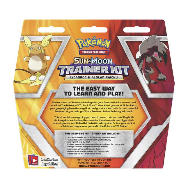 Sun /& Moon Trainer Kit Pokemon TCG Lycanroc /& Alolan Raichu