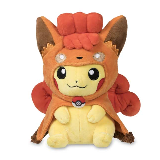 "Image for Vulpix Cape Pikachu Poké Plush (Standard) - 8.5"" from Pokemon Center"