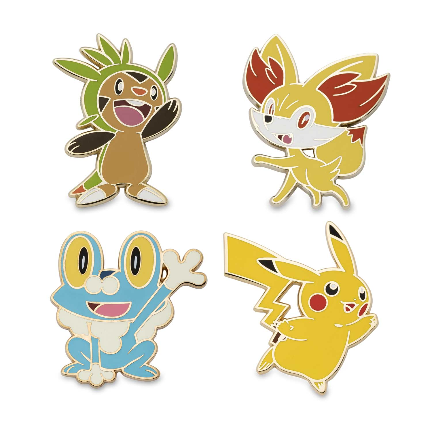 image for chespin fennekin froakie and pikachu pokmon pins 4 pack _5_3074457345618259663_3074457345618262055_3074457345618268804