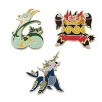 Image for Serperior, Emboar, Samurott Pokémon Pins (3-Pack) from Pokemon Center