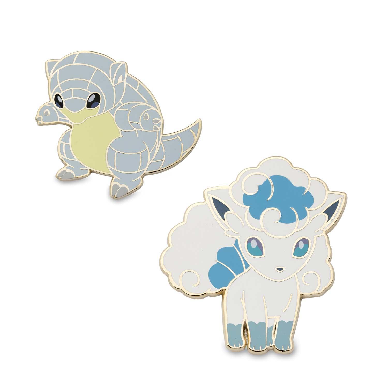 bf2af974 Image for Alolan Sandshrew and Alolan Vulpix Pokémon Pins (2-Pack) from  Pokemon