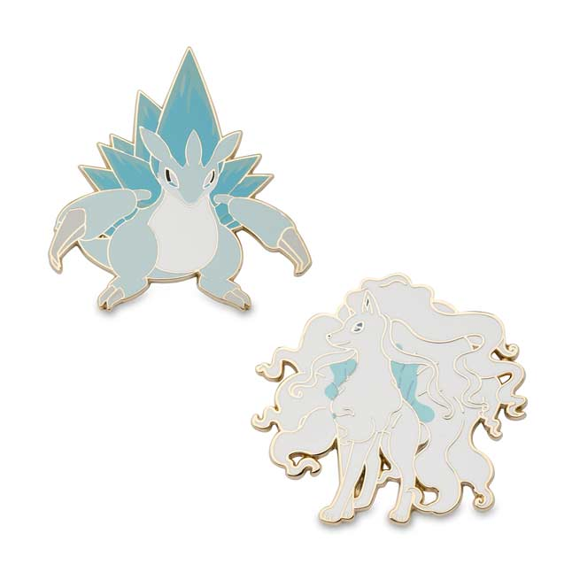 Image for Alolan Sandslash and Alolan Ninetales Pokémon Pins (2-Pack) from Pokemon Center