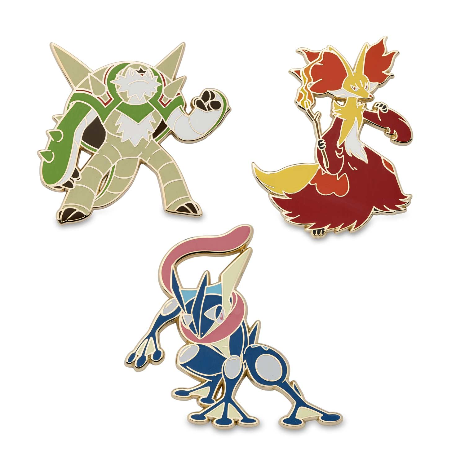 Chesnaught Delphox Greninja Pok 233 Mon Pin 3 Pack