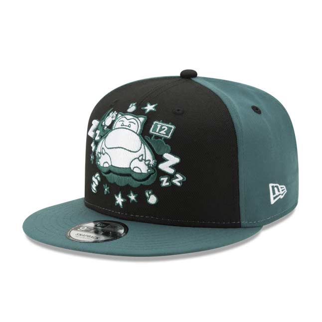 Image for Snoozing Snorlax 9FIFTY Baseball Cap by New Era (One Size—Adult) from Pokemon Center