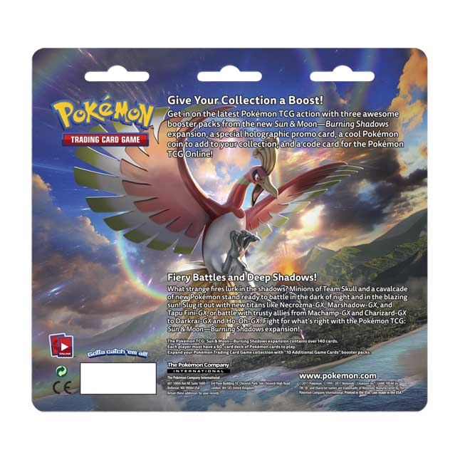 Image for Pokémon TCG: Sun & Moon—Burning Shadows 3 Booster Packs plus Cosmog Promo Card and Coin from Pokemon Center
