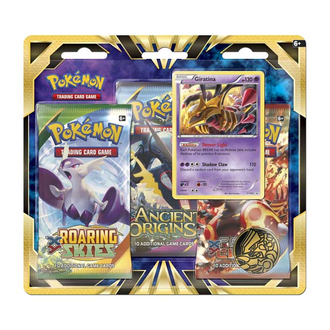 Image for Pokémon TCG: 3 Booster Packs with Bonus Giratina Promo Card and Coin from Pokemon Center