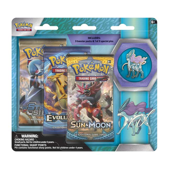 Image for Pokémon TCG: 3 Boosters plus Suicune Pin from Pokemon Center