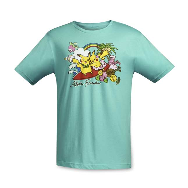 Image for Alola Friends Relaxed Fit Adult Crewneck T-Shirt from Pokemon Center