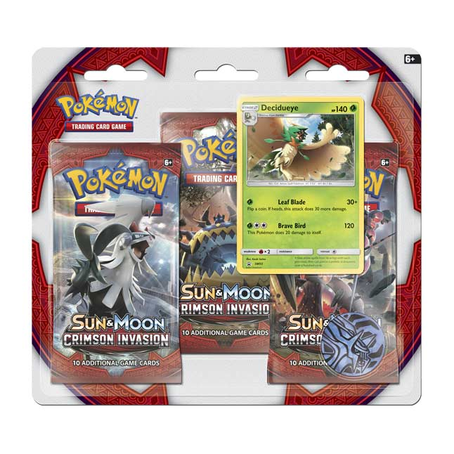 Image for Pokémon TCG: Sun & Moon—Crimson Invasion 3 Booster Packs plus Decidueye Promo Card from Pokemon Center
