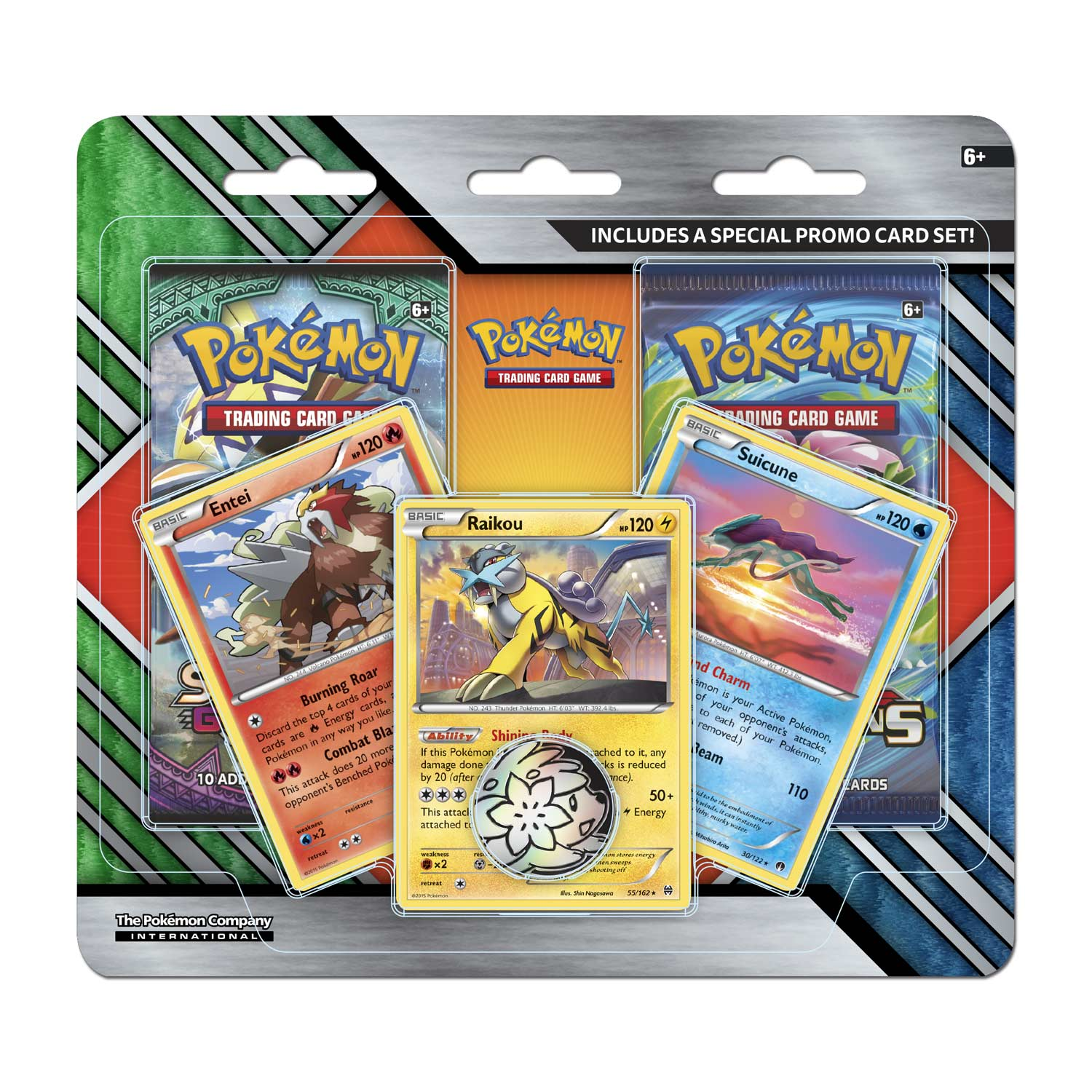 Pokemon Tcg 2 Pack Booster With 3 Promo Cards And Coin