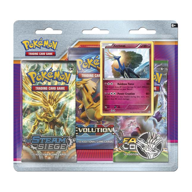 Image for Pokémon TCG: 3 Booster Packs with Bonus Xerneas Card and Coin from Pokemon Center