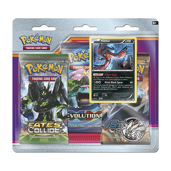 Image for Pokémon TCG: 3 Booster Packs with Bonus Yveltal Card and Coin from Pokemon Center
