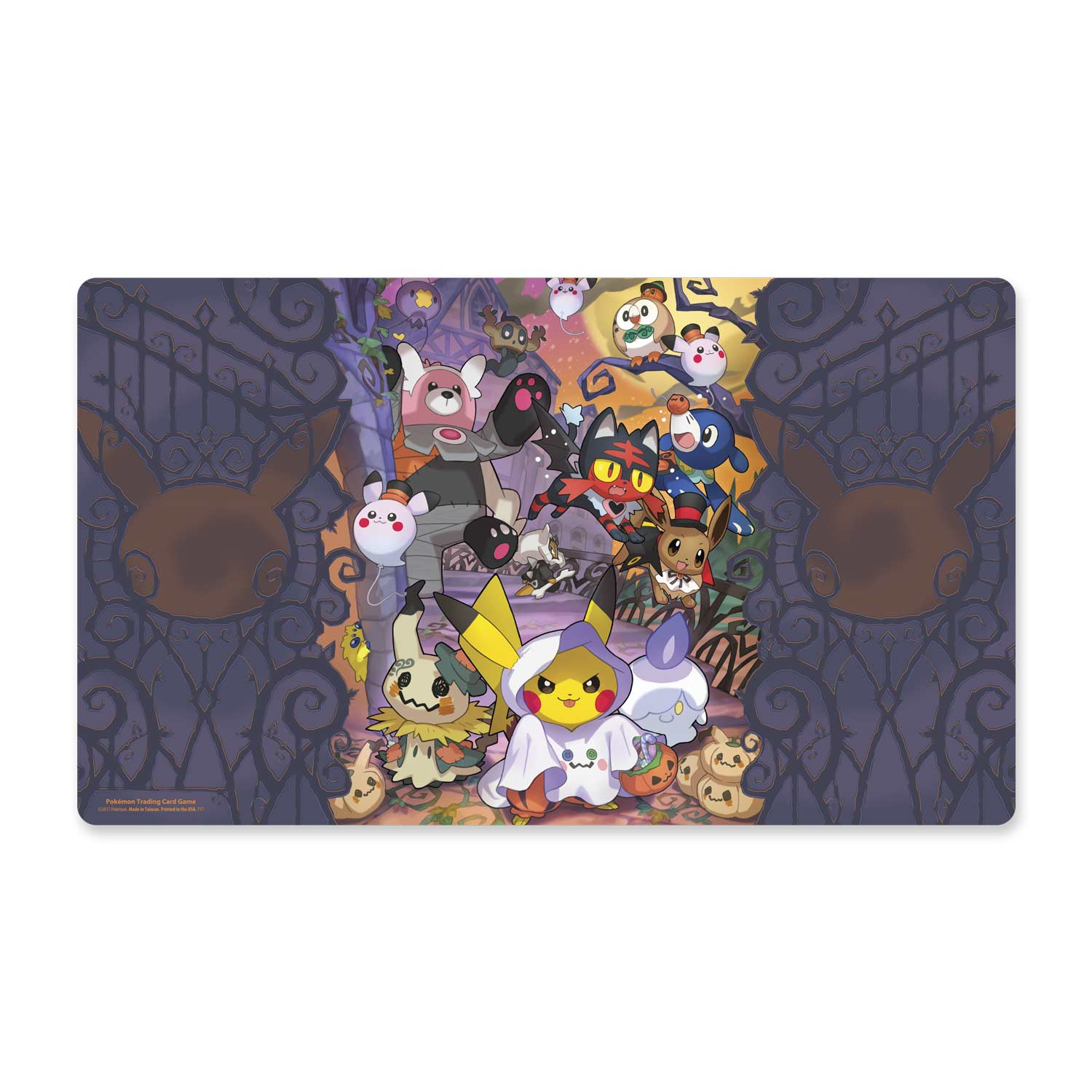 image for pokmon tcg halloween playmat from pokemon center
