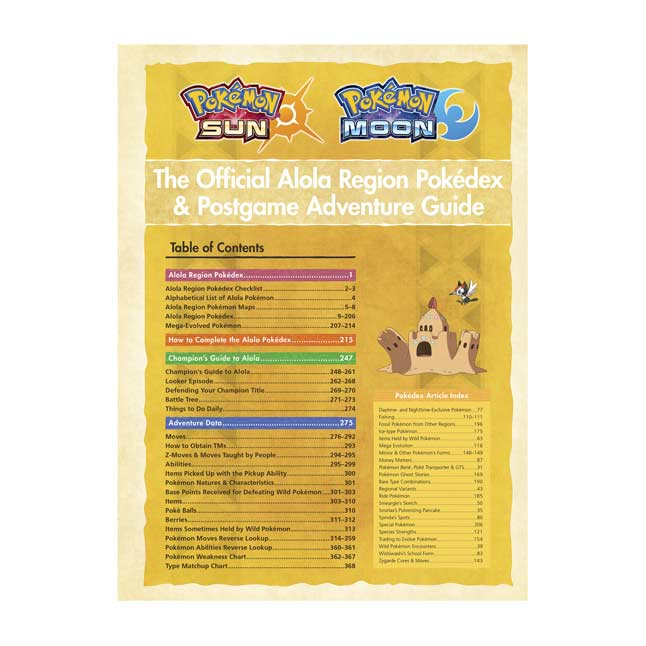 Image for Pokémon Sun & Pokémon Moon: The Official Alola Region Pokédex & Postgame Adventure Guide from Pokémon Center