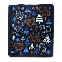 Vulpix Frozen Forest Fleece Throw