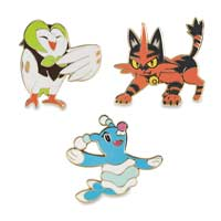Dartrix Torracat Brionne Pokémon Pin 3-Pack
