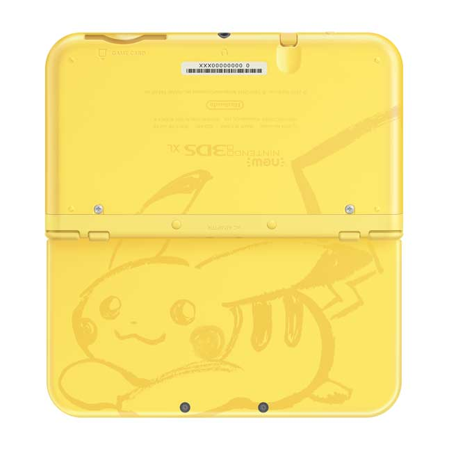 Image for Pikachu Yellow Edition New Nintendo 3DS XL System from Pokemon Center