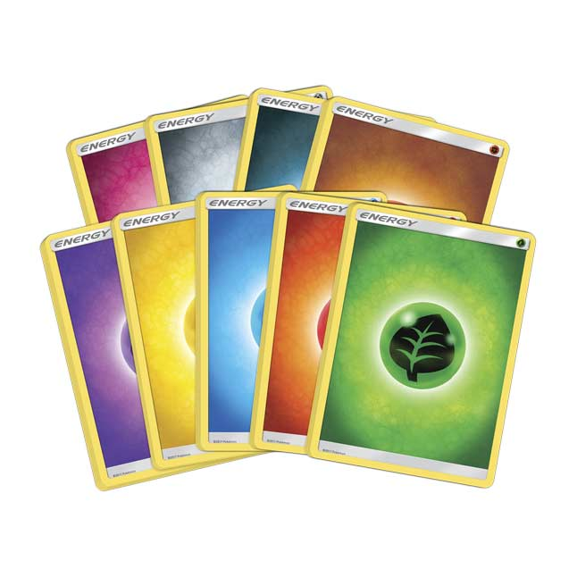 Lot Of 45 Energy Cards Sun And Moon 5 Of Each Type Pokemon Sun /& Moon