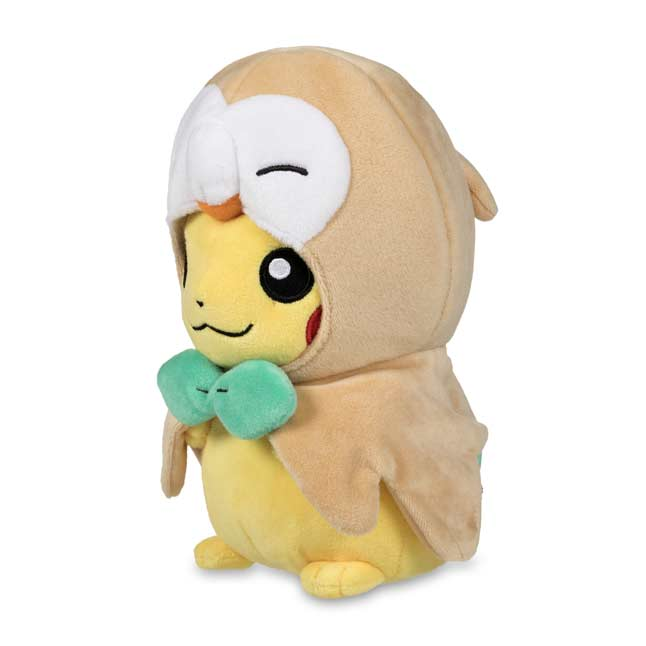 Image for Rowlet Cape Pikachu Poké Plush - 7 In. from Pokémon Center