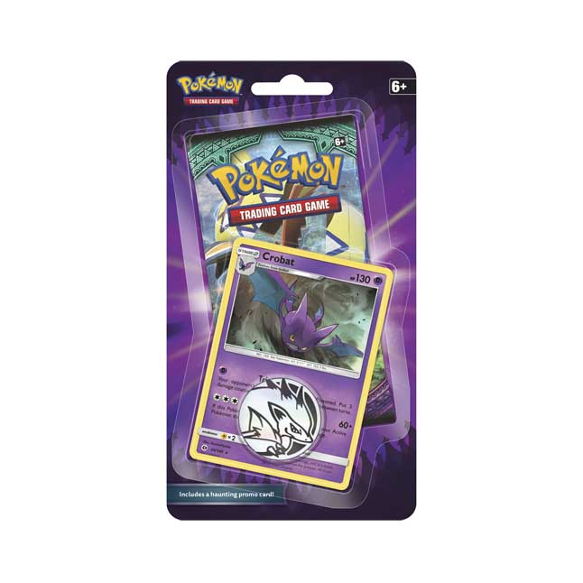 Image for Pokémon TCG: Spooky Booster with Bonus Crobat Promo Card and Coin from Pokemon Center