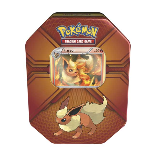 Image for Pokémon Trading Card Game: Triple Effect Tin with Flareon from Pokemon Center