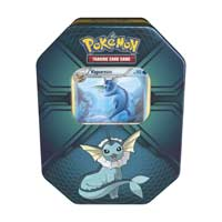 Image for Pokémon Trading Card Game: Triple Effect Tin with Vaporeon from Pokemon Center