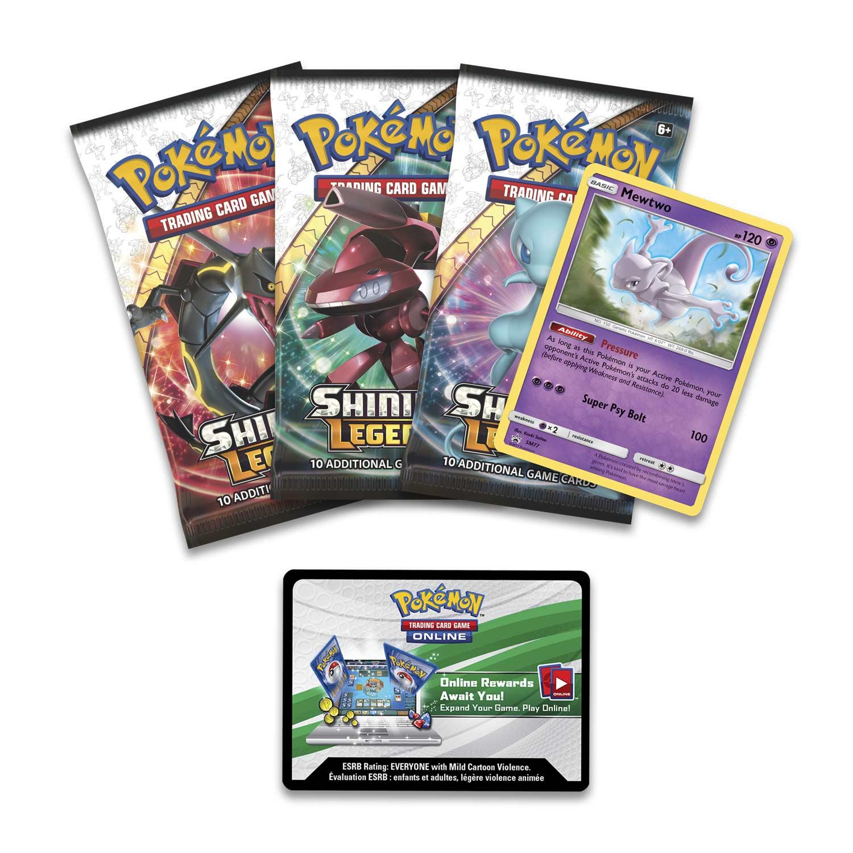 Shining Legends Pokemon TCG Mewtwo Pin Pin Collection Box