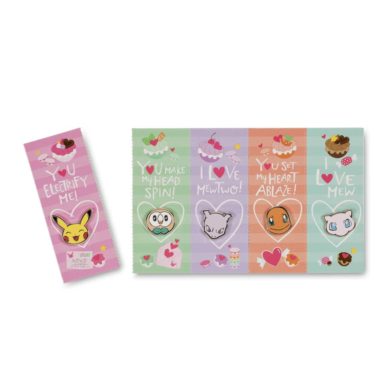 Pokemon Valentines Pins Cards 5 Pack Pokemon Center Original