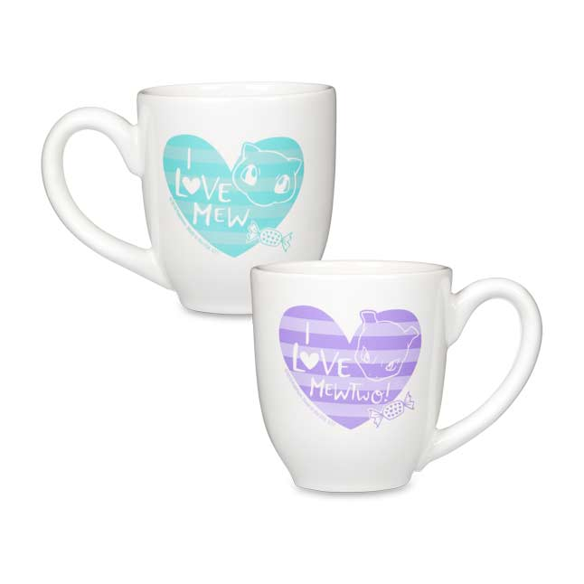 Image for Mew & Mewtwo Pokémon Valentines 16 oz. Mugs (2-Pack) from Pokemon Center