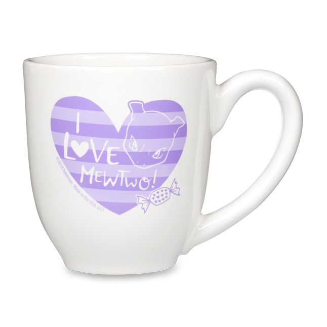 Image for Mew & Mewtwo Pokémon Valentines 16 oz. Mugs (2-Pack) from Pokémon Center