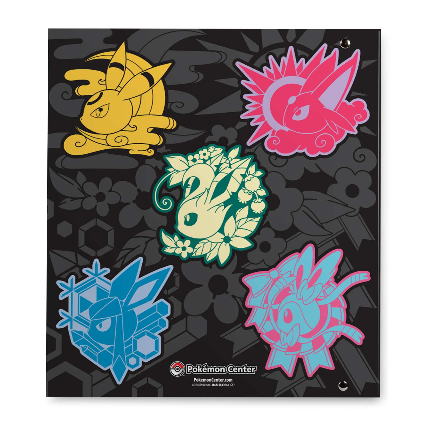 64e8bb20 ... Image for Faces of Eevee D-Ring Binder - 1 In. from Pokemon Center ...