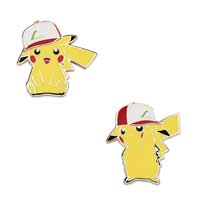 Pikachu Wearing Kanto Trainer Hat Pokémon Pins (2-Pack)