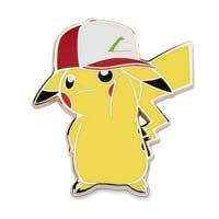 Image for Pikachu Wearing Kanto Trainer Hat Pokémon Pins (2-Pack) from Pokemon Center